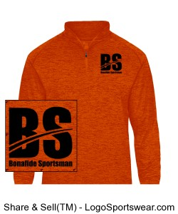 Half Zip Pullover Burnt Orange Design Zoom