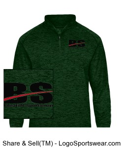 Half Zip Pullover Green Design Zoom